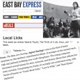 The East Bay Express offers reviews of local talent. In this case local is the bay area where Agnes Szelag is based. Visit us and get your copy today. CD...